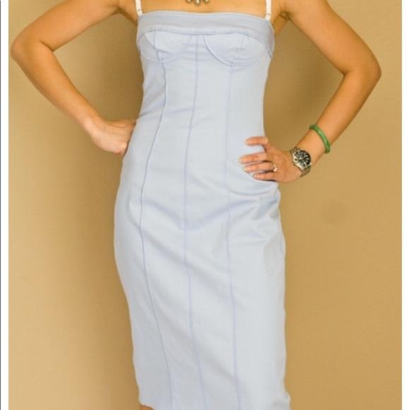 c74ef92d82dd2 Dolce & Gabbana Dresses | Dolce Gabbana Baby Blue Dress Size 42 ...